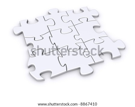 Part of a puzzle - stock photo
