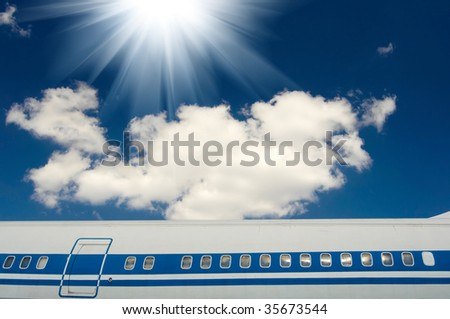 Part of airplane - stock photo