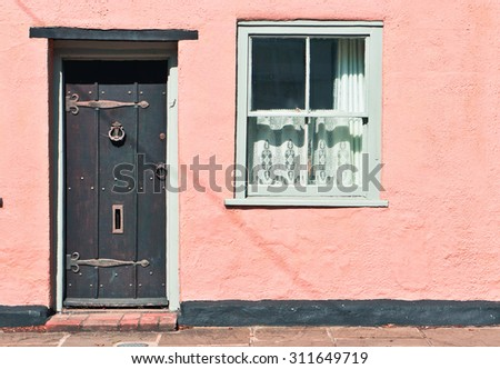 Part of an old fashioned english town house - stock photo