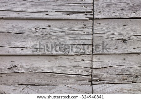 Part of an old wooden barn in Italy - stock photo