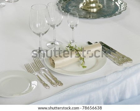 part of beautiful served table - stock photo