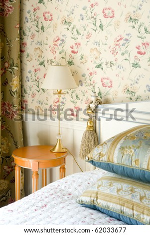 part of bedroom - stock photo