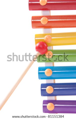 Part of childs toy xylophone - stock photo