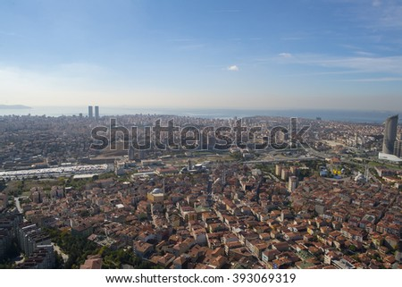 Part of city - Istanbul - Aerial