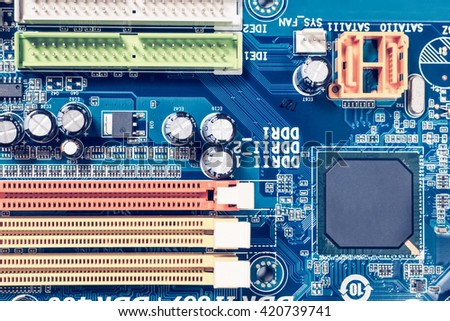 part of computer mainboard