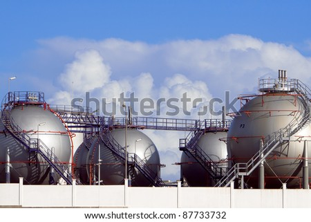 Part of Desalination Plant in Lanzarote - stock photo