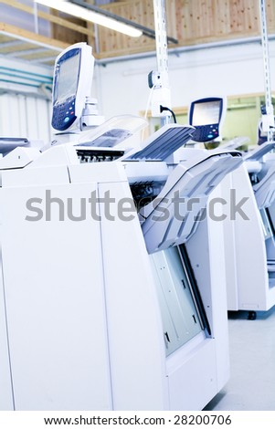 Part of digital printing machine in a firm