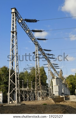 Part of electricity plant - stock photo