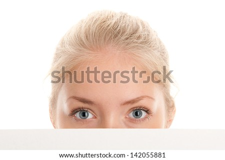 Part of face of beauty woman - stock photo