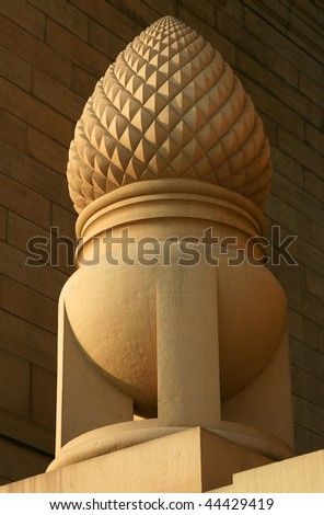 Part of Famous Indian place in Delhi - India Gate - stock photo