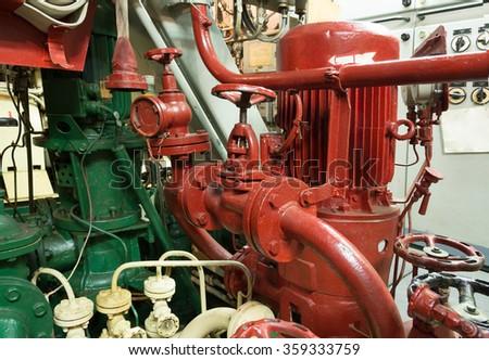 part of fire sprinkler system  - stock photo