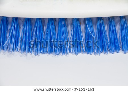 Part of Floor Brush with blue brush color isolated on white background - stock photo