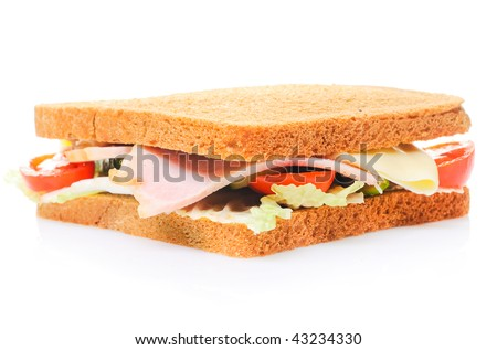 Part of fresh sandwich