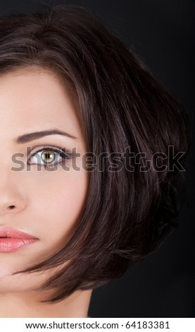 Part of girls face - stock photo
