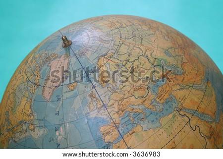 Part of globe - stock photo