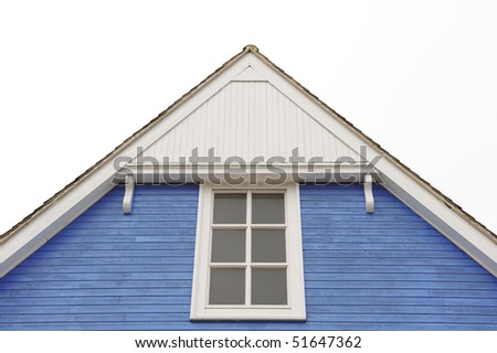 Part of House with Windows - stock photo