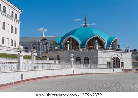 Part of Kul Sharif mosque in Kazan Kremlin. Russia. - stock photo