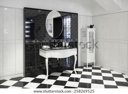 Part of luxury bathroom - stock photo