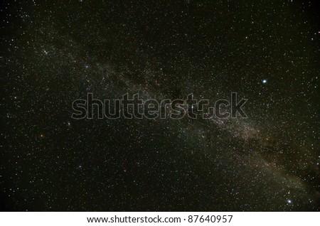 Part of Milky Way Galaxy - stock photo