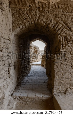 Part of Narenj (Narin) Castle, Meybod, Iran