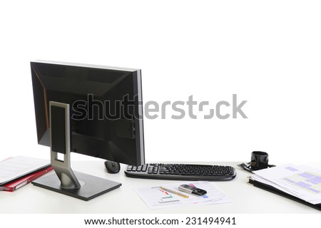 part of office interior.. Isolated on white background - stock photo