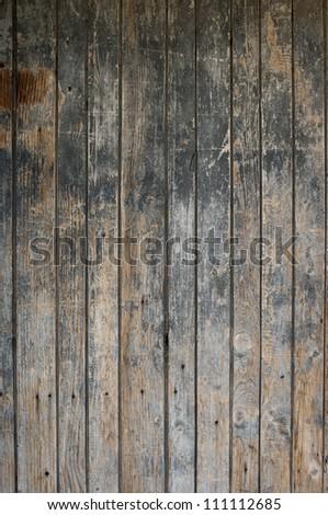 Part of old wooden door - stock photo