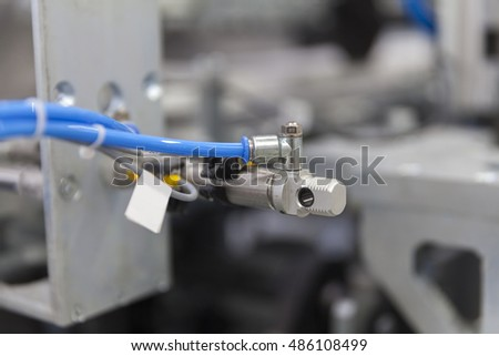 part of packaging machine, close up