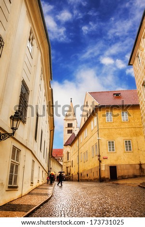 Part of Prague Old Town  - stock photo