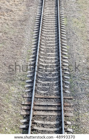Part of railroad tracks from top view