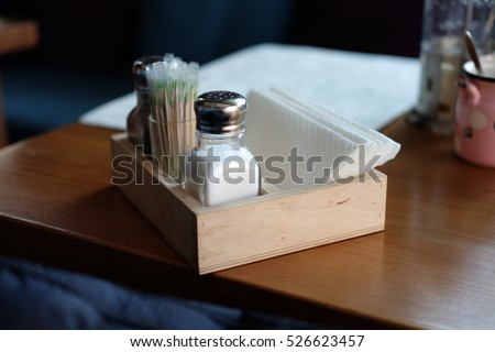 Part Restaurant Table Setting Salt Pepper Stock Photo (Royalty Free) 526623457 - Shutterstock & Part Restaurant Table Setting Salt Pepper Stock Photo (Royalty Free ...