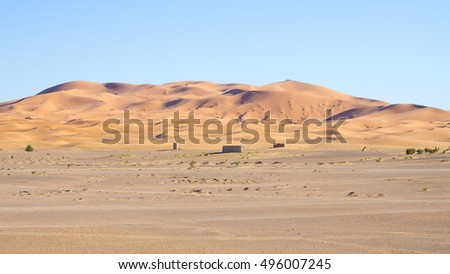 Part of Sahara desert in Morocco