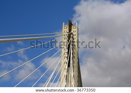 Part of suspension bridge.