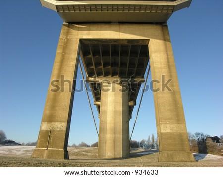 Part of Suspension Bridge - stock photo