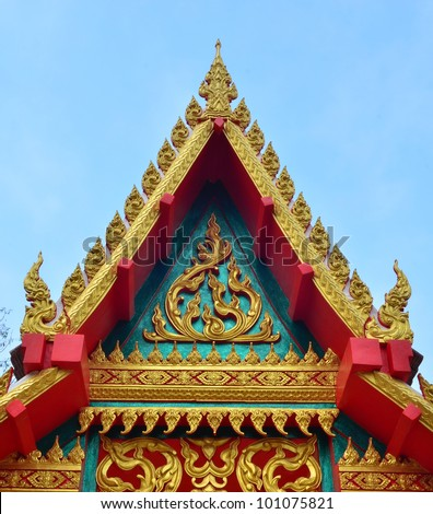 part of Temple in Thailand