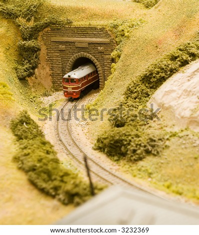 Part of the big model - stock photo