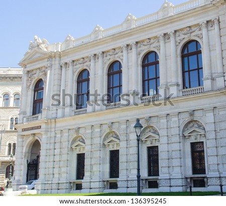 Part of the Burgtheater (Court Theatre), the Austrian National Theatre in Vienna and one of the most important German language theatres in the world. - stock photo