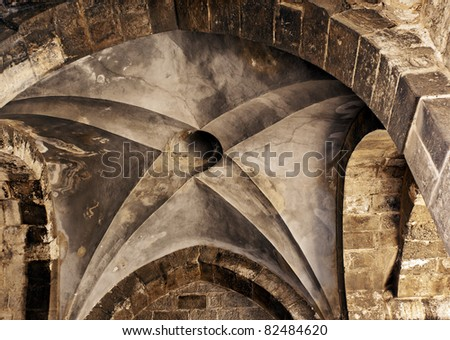 Part of The Church of the Holy Sepulchre in Jerusalem, Israel - stock photo