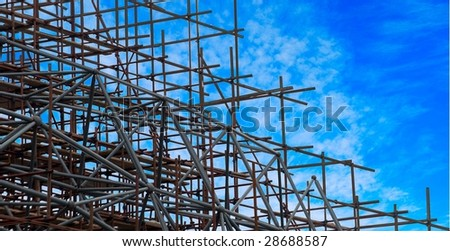 Part of the construction structure. - stock photo
