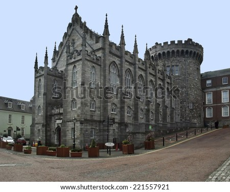 part of the Dublin Castle in Ireland - stock photo