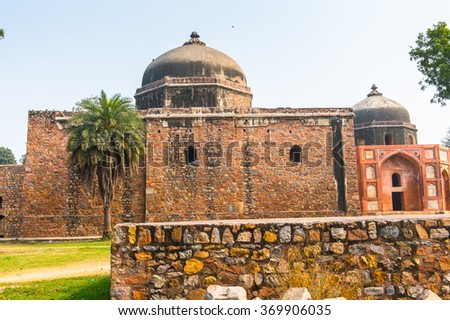 Part of the Humayun's Tomb complex,the tomb of the Mughal Emperor Humayun in Delhi, India. UNESCO World Heritage Site
