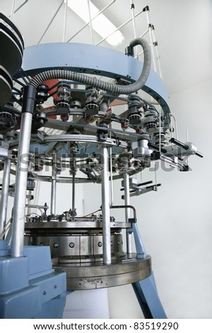 part of the machine for weaving - stock photo