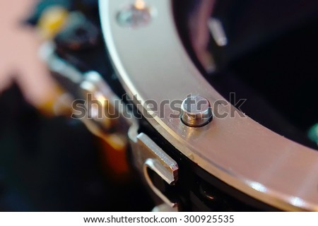 Part of the mechanism on a blurred background. - stock photo
