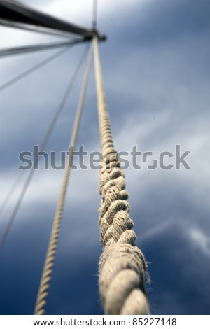 Part of the old sailing boat - stock photo