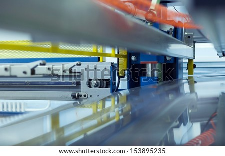 part of the production machine for safe operation - stock photo
