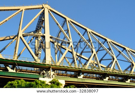 Part of the Story Bridge in Brisbane - stock photo