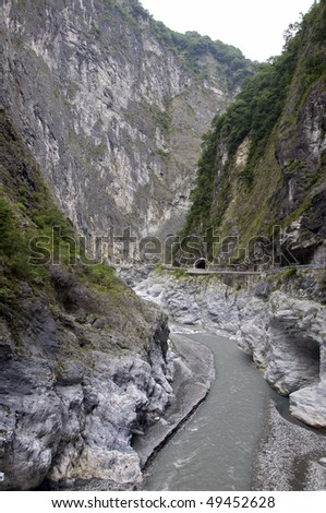 Part of the Taroko Gorge in Taiwan