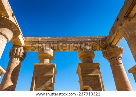 Part of the Temple of Hibis, the largest and most well preserved temple in the Kharga Oasis, Egypt