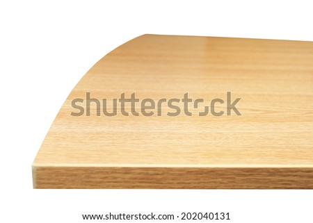 Part of the wooden table isolated on white - stock photo