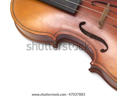 Part of vintage violin - stock photo