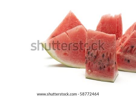 part of watermelon - stock photo